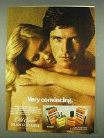 1978 Old Spice Musk for Men Cologne & After Shave Ad