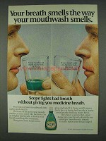 1978 Scope Mouthwash Ad - Your Breath Smells