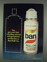 1978 Ban Roll-On Deodorant Ad - As Effective