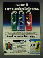 1978 Ultra Ban II Deodorant Ad - Effectiveness