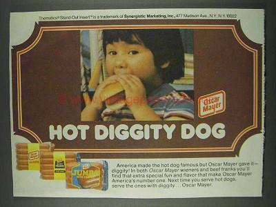 1978 oscar mayer hot dogs ad hot diggity dog. Black Bedroom Furniture Sets. Home Design Ideas