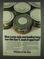1978 Chicken of the Sea Tuna Ad - Seal of Approval