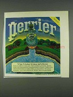 1978 Perrier Water Ad - No Sugar No Saccharin