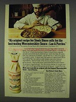 1978 Lea & Perrins Worcestershire Sauce Ad, Chef Nichol