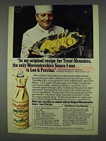1978 Lea & Perrins Worcestershire Sauce Ad, Chef Mosca