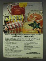 1978 Minute Maid Lemonade Ad - Use More Punch