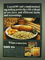 1978 Uncle Ben's Rice Ad - Complemented Turkey