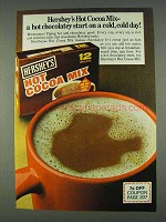 1978 Hershey's Hot Cocoa Mix Ad - Cold, Cold Day