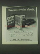 1978 Rolfs Double Attache Credit Card Carrier Ad