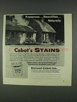1978 Cabot's Stains Ad - Preserves Beautifies Naturally