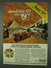 1978 Sears Andrea III Carpeting Ad
