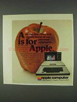 1978 Apple II Computer Ad - A is For Apple
