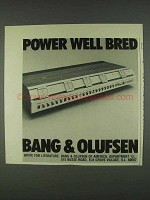 1978 Bang & Olufsen Stereo Ad - Power Well Bred