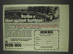 1978 Bush Hog V-Plows Ad - Blow Against Hardpan
