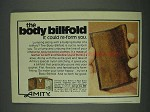 1978 Amity Body Billfold Ad - It Could Re-Form You