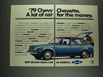1979 Chevrolet Chevette Ad - A Lot of Car for Money