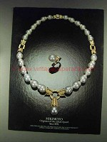 1979 Mikimoto Pearl Jewelry Ad - Originator of Cultured