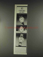 1979 Concord Mini-Quartz Watch Ad