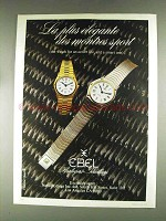 1979 Ebel Flatline Quartz Watch Ad - La Plus Elegante