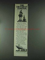 1979 Air India Ad - The Different London