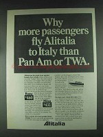 1979 Alitalia Airline Ad - More Passengers Fly