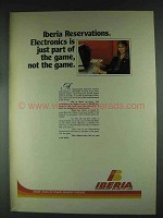 1979 Iberia Airlines Ad - Reservations Electronics