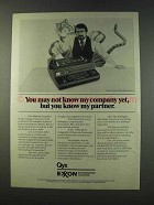 1979 Exxon Qyx Ad - You May Not Know My Company Yet