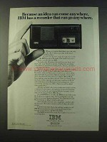 1979 IBM Executive Recorder Ad - Idea Can Come Anywhere