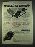 1979 Sinclair Enterprise Programmable Calculator Ad
