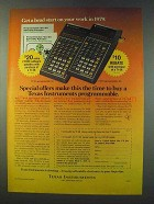1979 TI Programmable 58 and 59 Calculator Ad
