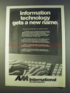 1979 AM International Ad - Technology Gets a New Name