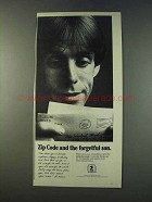 1979 U.S. Postal Service Ad - Zip Code Forgetful Son