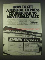 1979 Emery Express Ad - Get Federal Express Fast