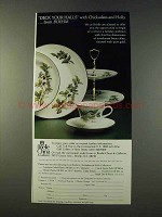1979 Brielle China Ad - Boehm Chickadees & Holly