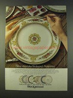 1979 Wedgwood China Ad - Columbia Enamelled