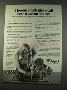 1979 Whirlpool Cool-Line Service & Garbage Disposal Ad