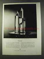 1979 Steuben Cityscape Crystal Sulpture Lloyd Atkins Ad