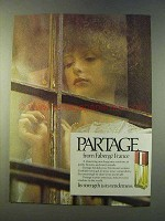 1979 Faberge Partage Perfume Ad - Tenderness