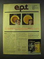 1979 e.p.t. In-home early pregnancy test Ad