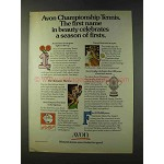 1979 Avon Products Ad - Championship Tennis