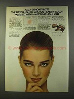 1979 Aziza Natural Lustre Blush Ad - Healthy Color