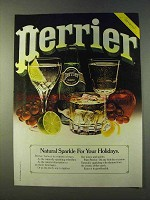 1979 Perrier Water Ad - Natural Sparkle For Holidays