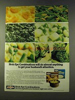 1979 Birds Eye Combinations Vegetables Ad - Attention