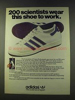 1979 Adidas ATP Tennis Shoe Ad - 200 Scientists Wear
