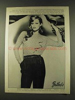 1979 Anne Klein Blouse & Side-Button Flannel Pants Ad