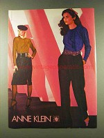 1979 Anne Klein Fashion Ad - Photo by Eric Meola