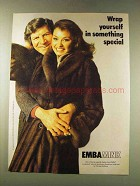 1979 Emba Mink Coat Ad - Christie Brothers
