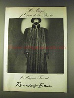 1979 Oscar de la Renta Wagner Fur Ad - Magic