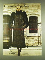 1979 Christian Dior Brown Dyed Swakara Broadtail Fur Ad