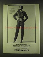 1979 Calvin Klein Georgette Tunic & Criss-Cross Pant Ad